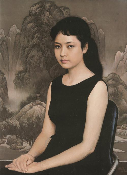 □ 青年女歌手 54cm×74cm 1984年 布面油画_副本.jpg